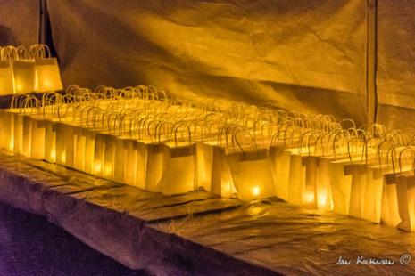 Lichttasjes voor de bezoekers