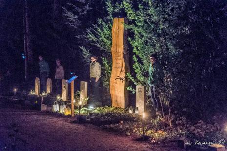 Scouts bij de oorlogsgraven